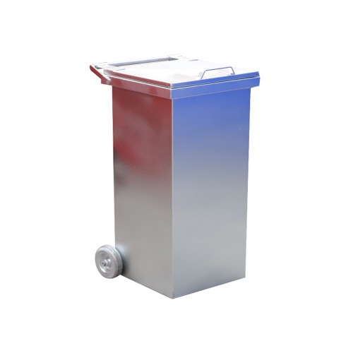 240 Litre Metal Galvaniz Çöp Konteyneri