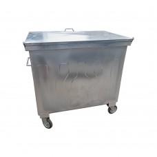 600 Litre Metal Galvaniz Çöp Konteyneri