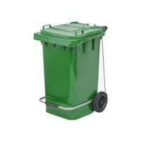 100 Litre Plastik Pedallı Çöp Konteyneri