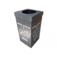 Metal Sıfır Atık Geri Dönüşüm Kutusu 70 Litre